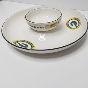 Pflatzgraff Green Bay Packers Chip and Dip Set